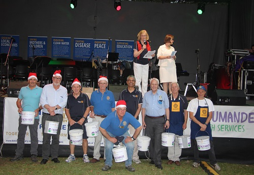 2018 Beecroft Rotary Bucket Brigade collection for Taldumande Youth Services