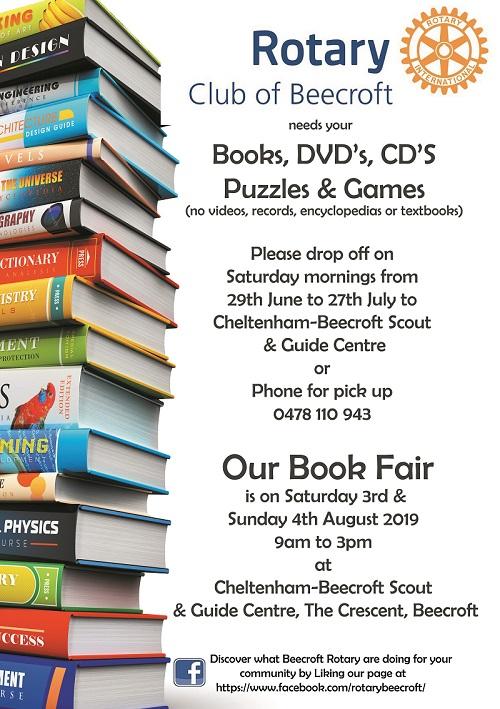 Beecroft Rotary Annual Book Fair