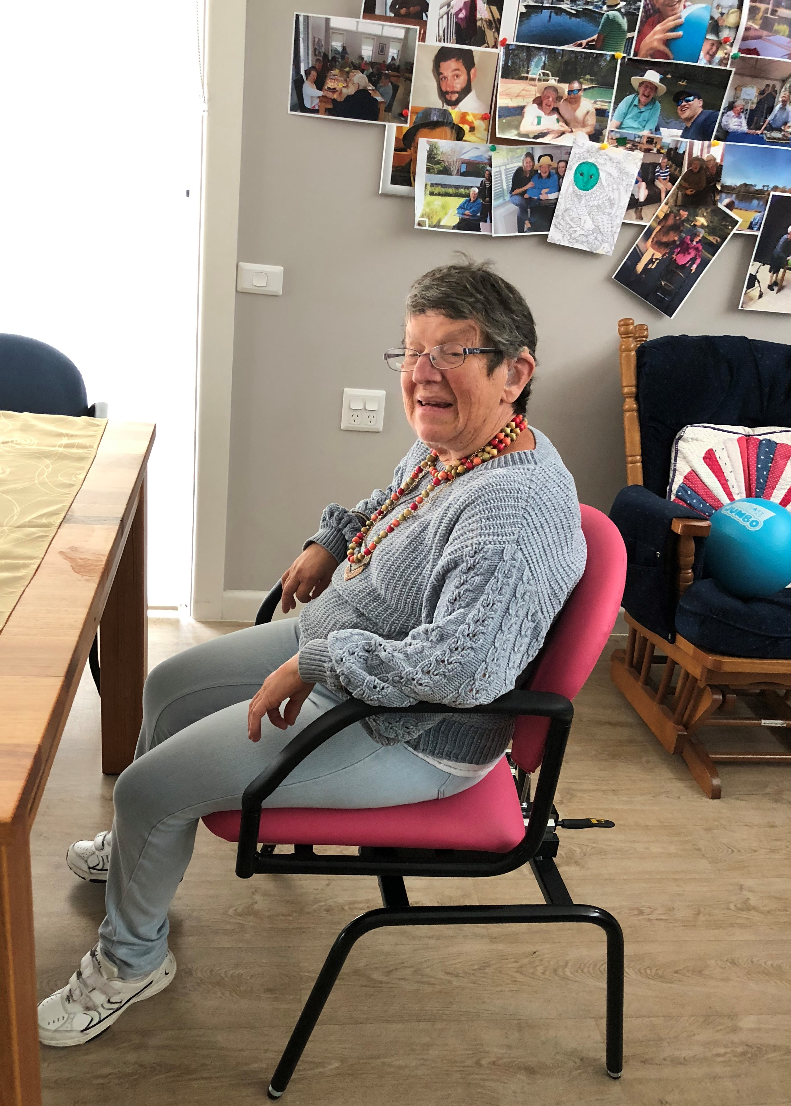 Revolution Chair supplied by Beecroft Rotary for the disabled clients in Inala